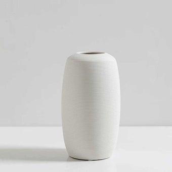 OP.UN Ceramic Vase CV0008 สีขาว01