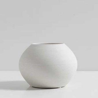 OP.UN Ceramic Vase CV0010 สีขาว01