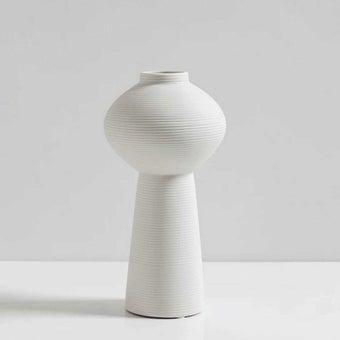 OP.UN Ceramic Vase CV0011 สีขาว01