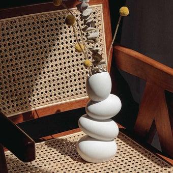 OP.UN Ceramic Vase(white)CV0017 สีขาว1