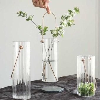 OP.UN Glass Vase GV0010 สีใส01