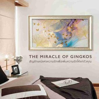 รูปพร้อมกรอบ DoseArt รุ่น The Miracle of Gingkos Frame B04 180x90 cm-01