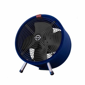 """พัดลม Venz รุ่น F0FWS15 พัดลมหุ้มผ้า ถังกลม สีน้ำเงิน 12""""-01"""