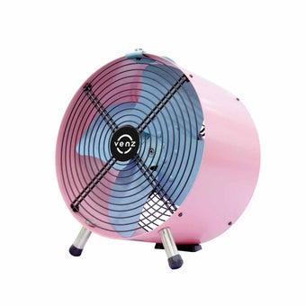 """พัดลม Venz รุ่น F0FWS12 พัดลมถังเหล็ก 12""""/Pink Pastel"""