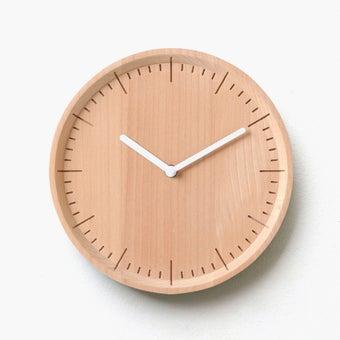 Pana objects นาฬิกาติดผนัง METER Natural B.White H.#PN-D029-NT-WH สีไม้อ่อน1
