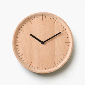 Pana objects นาฬิกาติดผนัง METER Natural B.Black H.#PN-D029-NT-BK สีไม้อ่อน1