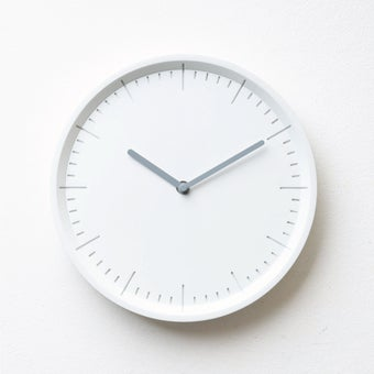 Pana objects นาฬิกาติดผนัง METER Raindrop White B.Grey H.#PN-D029-WH-GY สีขาว1