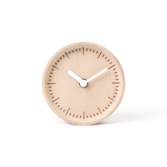 Pana objects นาฬิกาตั้งโต๊ะ  MILLI Natural B.Black H.#PN-D030-NT-BK สีไม้อ่อน5