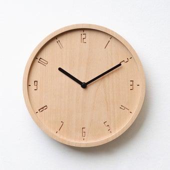 Pana objects นาฬิกาติดผนัง TIMY-C-Natural B. Black H.#PN-D061-NT-BK สีไม้อ่อน1