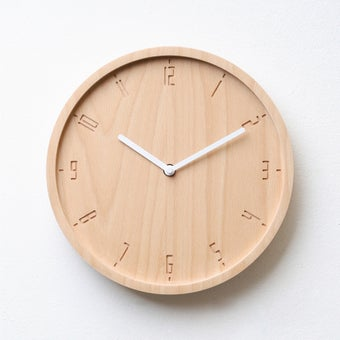 Pana objects นาฬิกาติดผนัง TIMY-C-Natural B. White H.#PN-D061-NT-WH สีไม้อ่อน1