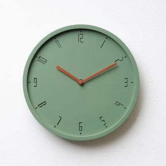 Pana objects นาฬิกาติดผนัง TIMY-C-Willow Green B. Copper H.#PN-D061-GN-CP สีเขียว1