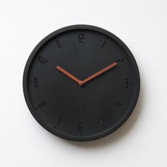 Pana objects นาฬิกาติดผนัง TIMY-C-Charcoal Black B. Copper H.#PN-D061-BK-CP สีดำ1