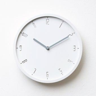 Pana objects นาฬิกาติดผนัง TIMY-C-Raindrop White B. Grey H.#PN-D061-WH-GY สีขาว1