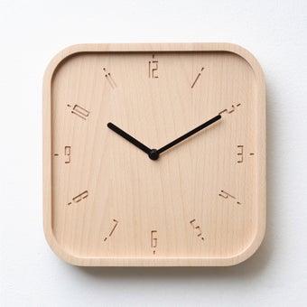 Pana objects นาฬิกาติดผนัง TIMY-S-Natural B. Black H.#PN-D062-NT-BK สีไม้อ่อน1