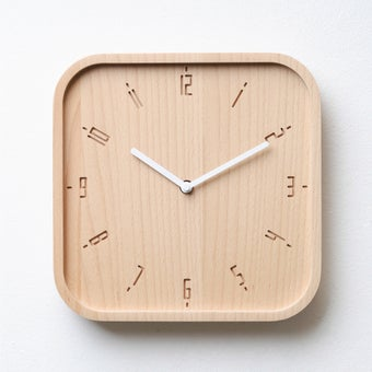 Pana objects นาฬิกาติดผนัง TIMY-S-Natural B. White H.#PN-D062-NT-WH สีไม้อ่อน1