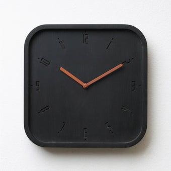 Pana objects นาฬิกาติดผนัง TIMY-S-Charcoal Black B.Copper H.#PN-D062-BK-CP สีดำ1