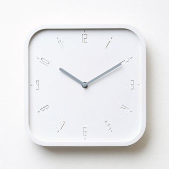 Pana objects นาฬิกาติดผนัง TIMY-S-Raindrop White B.Grey H.#PN-D062-WH-GY สีขาว1