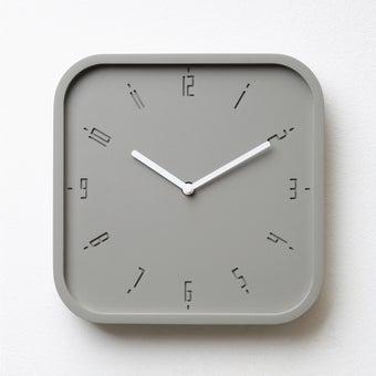 Pana objects นาฬิกาติดผนัง TIMY-S-Elementary Grey B.White H.#PN-D062-GY-WH สีเทา1