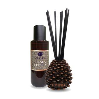 a ฟุตPURA Reed Diffuser Litsea cubeba  scent. ก้านไม้หอมกลิ่นตะไคร้  1