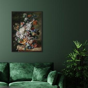 รูปพร้อมกรอบ Doseart รุ่น บ้านนี้ดี อยู่แล้วรวย: Alter Fortune 3 45x60 cm (48x63 cm รวมกรอบ) สีเขียว1