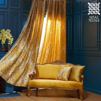 ผ้าม่าน/40020 BAROQUE/HOME CAFE/102/GOLD สีทอง01