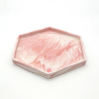 Storehaus ถาดรูปหกเหลี่ยมสีชมพู รุ่นTA00391