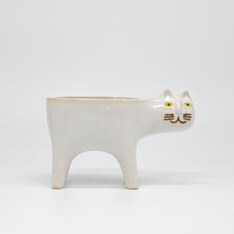 Storehaus กระถางต้นไม้รูปแมว รุ่นVA0059 สีขาว1