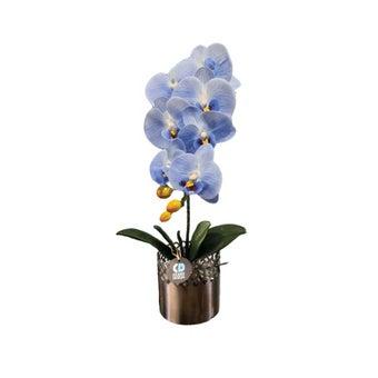 KDD ดอกไม้ประดิษฐ์ #A011ฟาแลนนอปซิสสีฟ้า1