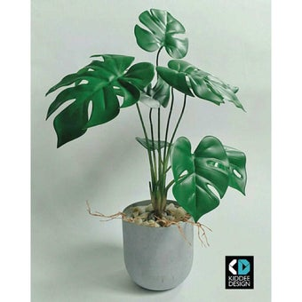 KDD ต้นไม้ประดิษฐ์ #A017 มอลสเตอร่าS สีเขียว1