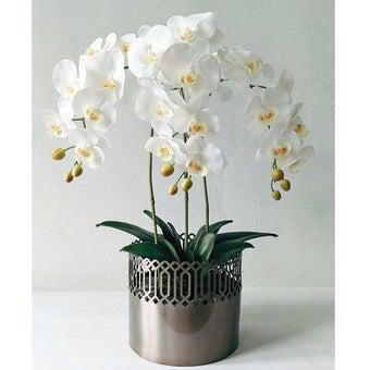 KDD ดอกไม้ประดิษฐ์#A037ฟาแลนนอปซิสสีขาว1