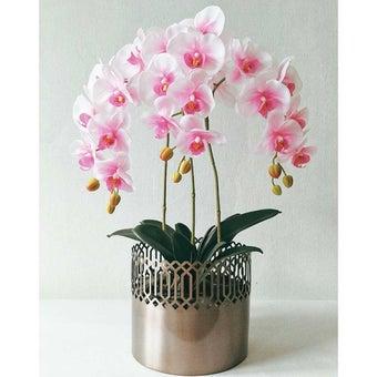KDD ดอกไม้ประดิษฐ์#A038ฟาแลนนอปซิสสีชมพู1
