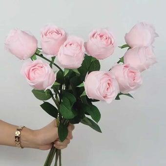 KDD ดอกไม้ประดิษฐ์ #C016กุหลาบเล็กสีชมพู01
