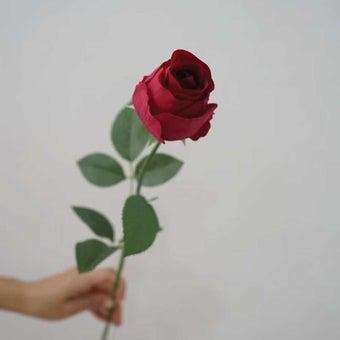 KDD ดอกไม้ประดิษฐ์ #C017กุหลาบเล็กสีแดง 01