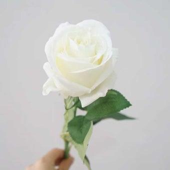 KDD ดอกไม้ประดิษฐ์ #C018กุหลาบเล็กสีขาว 1