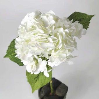 KDD ดอกไม้ประดิษฐ์#C021ไฮเดนเยียร์AAAขาว สีขาว1