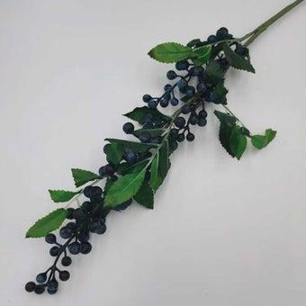 KDD ดอกไม้ประดิษฐ์#C036แบล็คเบอรี่ลูกใหญ่ สีเขียว1
