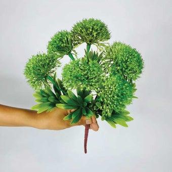 KDD ดอกไม้ประดิษฐ์#D011ดอกลูกเงาะสีเขียว1