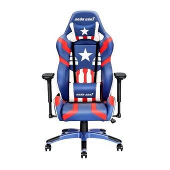 Anda Seat Special Edition (AD7-19) Large Gaming Chair with 4D Armrest (Blue/Red/White) เก้าอี้เล่นเกมส์ อันดาซีท สีฟ้า/แดง/ขาว ขนาด 95 x 71 x 39 cm1