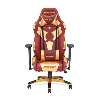 Anda Seat Special Edition (AD7-17) Large Gaming Chair with 4D Armrest (Red Maroon/Golden) เก้าอี้เล่นเกมส์ อันดาซีท สีแดง/ทอง ขนาด 95 x 71 x 39 cm1