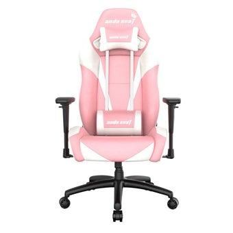 Anda Seat Pretty Pink Special Edition Large gaming Chair with 3D Armrest (Pink White) เก้าอี้เล่นเกมส์ อันดาซีท 28.74 x 35.83 x 15.35 cm สีหลาก1