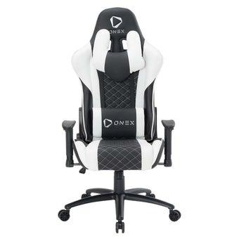 ONEX GX3 Gaming Chair วันเอ็กซ์ เก้าอี้เล่นเกม เก้าอี้เพื่อสุขภาพ ปรับระดับได้ 90-180 องศา รับประกัน 1 ปี สีขาว ขนาด 52 x 55 x 11cm1