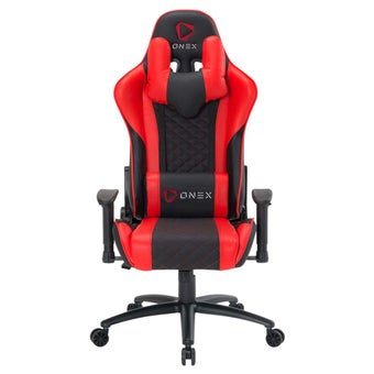 ONEX GX3 Gaming Chair วันเอ็กซ์ เก้าอี้เล่นเกม เก้าอี้เพื่อสุขภาพ ปรับระดับได้ 90-180 องศา รับประกัน 1 ปี สีแดง ขนาด 52 x 55 x 11cm1