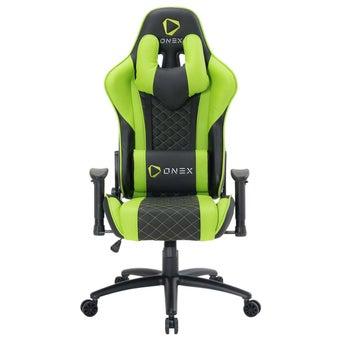 ONEX GX3 Gaming Chair วันเอ็กซ์ เก้าอี้เล่นเกม เก้าอี้เพื่อสุขภาพ ปรับระดับได้ 90-180 องศา รับประกัน 1 ปี สีเขียว ขนาด 52 x 55 x 11cm1