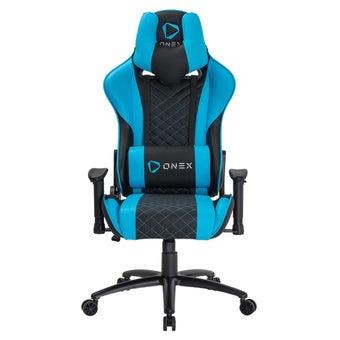 ONEX GX3 Gaming Chair วันเอ็กซ์ เก้าอี้เล่นเกม เก้าอี้เพื่อสุขภาพ ปรับระดับได้ 90-180 องศา รับประกัน 1 ปี สีฟ้า ขนาด 52 x 55 x 11cm1