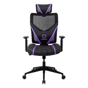 ONEX GE300 Gaming Chair วันเอ็กซ์ เก้าอี้เล่นเกม เก้าอี้เพื่อสุขภาพ ปรับระดับได้ 90-135 องศา รับประกัน 1 ปี สีม่วง ขนาด 66 x 70 x 118-128 cm1