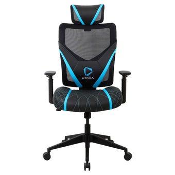 ONEX GE300 Gaming Chair วันเอ็กซ์ เก้าอี้เล่นเกม เก้าอี้เพื่อสุขภาพ ปรับระดับได้ 90-135 องศา รับประกัน 1 ปี สีฟ้า ขนาด 66 x 70 x 118-128 cm1