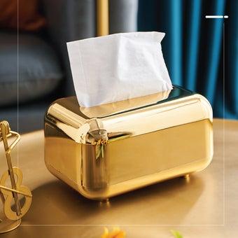 Chiranatda กล่องทิชชู่แม่เหล็ก สีทอง01