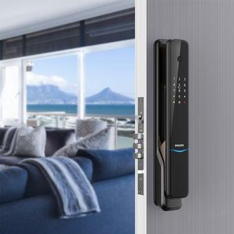 กลอนประตูดิจิตอล PHILIPS รุ่น 9300 (Main-lock) สีดำ2