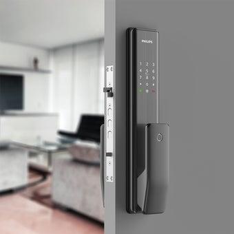 กลอนประตูดิจิตอล PHILIPS รุ่น ALPHA (Main-lock) สีดำ1