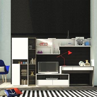 ชุดวางทีวีและตู้โชว์ รุ่น Minimo สีเทา01